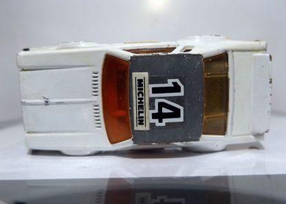 COCHE USADO MATCHBOX CHEVROLET PRO STOCKER DE 1980 A ESCALA APROXIMADA 1/64. VISTA SUPERIOR.