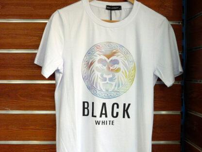 CAMISETA MC ALGODON BLACK-WHITE