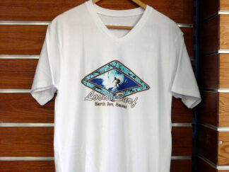 CAMISETA MC CUELLO DE PICO ADULTO SOFTEE HAWAI WHITE